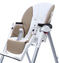 Чехол сменный Esspero к стульчику для кормления Peg-Perego Diner Sport, цвет: beige/white