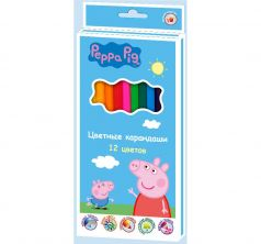 Карандаши цветные Peppa Pig Свинка Пеппа 12 цветов