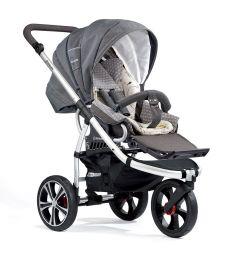 Прогулочная коляска Gesslein F3 Air+ (серебристая рама), цвет: серый