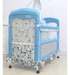 Кроватка-трансформер Tizo Lovely Bear, цвет: бежевый/голубй