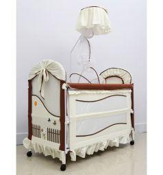 Кроватка-трансформер Tommy Cute Life, цвет: бежевый/шоколад