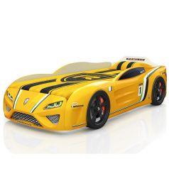 Кровать-машинка Romack SportLine, цвет: желтый