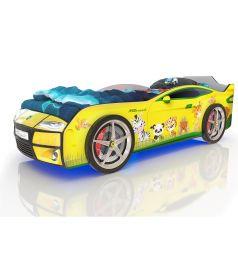 Кровать-машинка Romack Kiddy Зверята, цвет: желтый