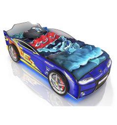 Кровать-машинка Romack Kiddy Синяя молния, цвет: синий