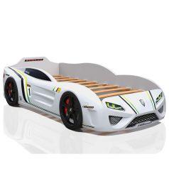 Кровать-машинка Romack SportLine, цвет: белый
