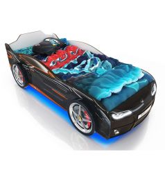 Кровать-машинка Romack Kiddy, цвет: черный
