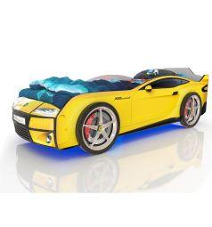 Кровать-машинка Romack Kiddy, цвет: желтый
