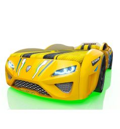 Кровать-машинка Romack Dreamer Желтый еж, цвет: желтый