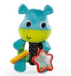 Мягкая игрушка-погремушка Bright Starts Лучшие друзья Бегемотик, 21 см