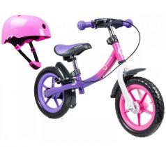 Беговел Lionelo Dan plus + шлем в подарок, цвет: pink