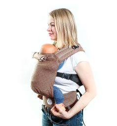 Slingme Рюкзак-кенгуру, цвет: коричневый