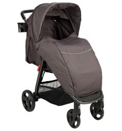 Прогулочная коляска Corol L-8, цвет: серый/фиолетовый