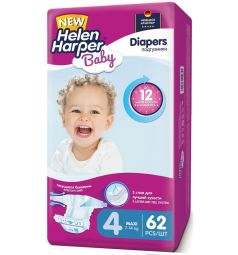 Подгузники Helen Harper Baby Maxi (7-14 кг) 62 шт.