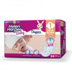 Подгузники Helen Harper Baby Newborn (2-5 кг) 24 шт.