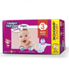 Подгузники Helen Harper Baby Midi (4-9 кг) 70 шт.