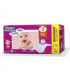 Подгузники Helen Harper Baby Midi (4-9 кг) 52 шт.