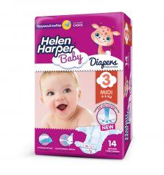 Подгузники Helen Harper Baby Midi (4-9 кг) 14 шт.