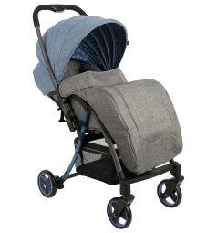 Прогулочная коляска Corol S-6, цвет: серый/синий