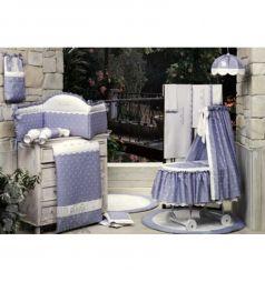 Бортик в кроватку BabyPiu Нежность, цвет: фиолетовый