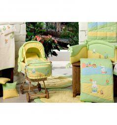 BabyPiu Одеяло Акварели, цвет: зеленый/желтый