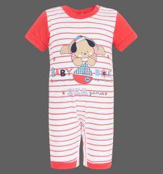 Полукомбинезон Leader Kids 'Морские игры', цвет: белый/красный