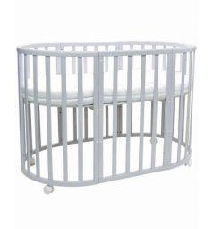 Кроватка-трансформер Everflo Allure Gray, цвет: серый
