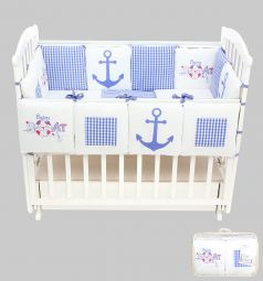 Комплект постельного белья Leader Kids Морские игры 15 предметов, цвет: синий