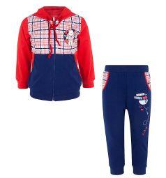 Комплект джемпер/брюки Leader Kids Морские игры, цвет: красный/синий