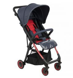 Прогулочная коляска Corol L-7, цвет: синий/красный