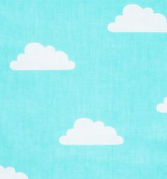 Подушка Зайка Моя Облака 40 х 40 см, цвет: бирюзовый