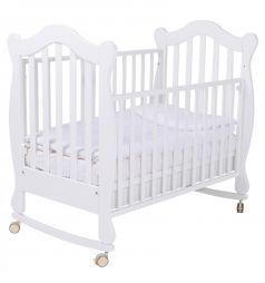Кровать-качалка Papaloni Favola, цвет: белый