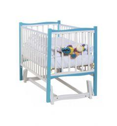 Кровать-маятник Papaloni Fiore, цвет: морская бирюза/белый