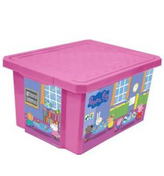 Little Angel Ящик для хранения игрушек Свинка Пеппа, цвет: розовый
