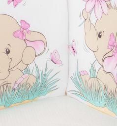 Бортик Leader Kids Розовый слон, цвет: розовый