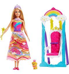 Кукла Barbie Дримтопия Принцесса и радужные качели 29 см