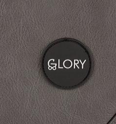 Коляска 2 в 1 Glory 1001, цвет: серый