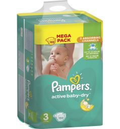 Подгузники Pampers Active Baby-Dry (5-9 кг) 152 шт.