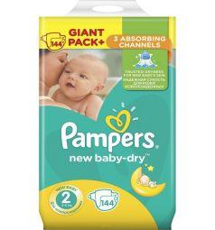 Подгузники Pampers Active Baby-Dry (3-6 кг) 144 шт.