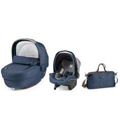 Набор для трансформации Peg-Perego Люлька Navetta Elite + автокресло Primo Viaggio Tri-Fix + сумка Borsa, цвет: темно-синий