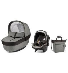 Набор для трансформации Peg-Perego Люлька Navetta Elite + автокресло Primo Viaggio Tri-Fix + сумка Borsa, цвет: серый