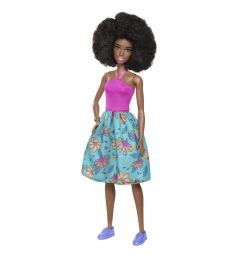Кукла Barbie Игра с модой Розовый топ бюрюзовая юбка с цветами