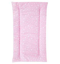 Leader Kids Комплект в коляску Маленькие белые звезды матрас/подушка, цвет: розовый