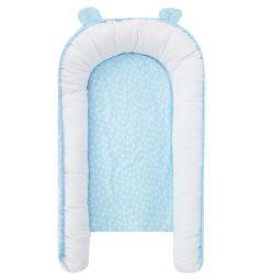 Комплект Smart-textile Бэби гнездо/подушка 2 предмета 60 х 90 см, цвет: голубой