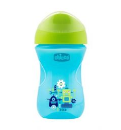 Чашка-поильник Chicco Easy cup Робот, с 12 месяцев, цвет: синий