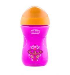 Чашка-поильник Chicco Easy cup Цветочек, с 12 месяцев, цвет: розовый