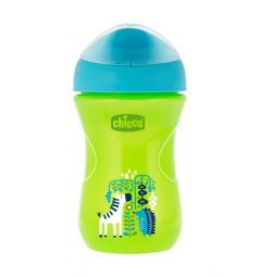 Чашка-поильник Chicco Easy cup Зебра, с 12 месяцев, цвет: зеленый