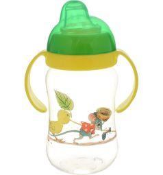 Поильник-непроливайка Lubby Сказки В.Сутеева, с 5 месяцев, цвет: зеленый/желтый