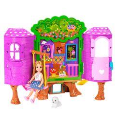 Игровой набор Barbie Семья Barbie Домик на дереве Челси 15 см