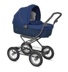 Коляска-люлька для новорожденного Inglesina Sofia на шасси Ergobike Slate, цвет: синий