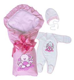 Комплект на выписку Непоседа Babyglory, цвет: розовый